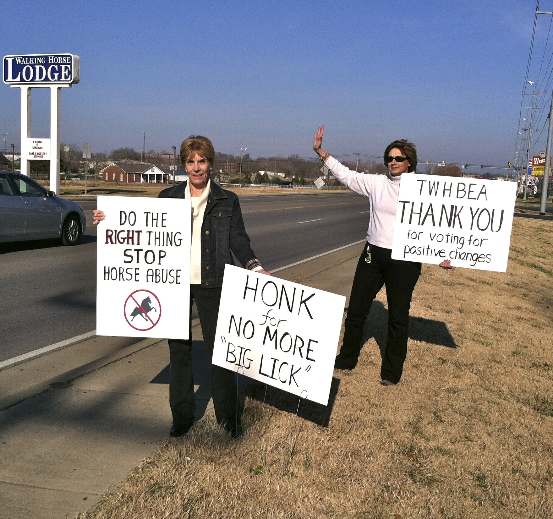 TWO COURAGEOUS LADIES TAKE A STAND