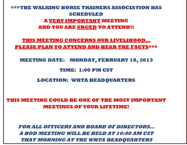 THE SKY IS FALLING MEETING NOTICE