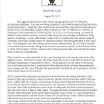 BLOUNT COUNTY, TENNESSEE PRESS RELEASE – WHEELON CASE NOT DISMISSED – AUGUST 26, 2013
