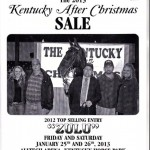 "KENTUCKY AFTER CHRISTMAS SALE – INCREASE IN HORSE SLAUGHTER PRICES HELPS 2015 ""KENTUCKY AFTER CHRISTMAS SALE"" IMPROVE NUMBERS"