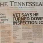 "THE TENNESSEAN NEWSPAPER HEADLINES – ""VET SAYS HE TURNED DOWN INSPECTION JOB"" – CELEBRATION CHAIRMAN DAVID L. HOWARD ATTACKS THE TENNESSEAN NEWSPAPER AND REPORTER PAUL C. BARTON"