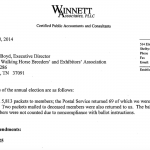 IMPOTENT FLATTER CAMPAIGN EFFORT ALLOWS TWHBEA TO GO SORE –  DRACONIAN BY-LAW AMENDMENT APPROVED VOTER TURNOUT MIRRORS PAT STOUT POLL