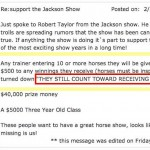 "MISSISSIPPI CHARITY HORSE SHOW – ""BRING 'EM – SORE THEM – GET THE MONEY ANYWAY""- WHAT IN THE WORLD IS GOING ON IN JACKSON?"