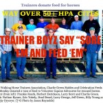 "TRAINER BOYZ SAY ""SORE 'EM AND FEED EM"" – WHILE BROTHER ROY EXUM REMINDS THE TRAINER BOYZ THAT IN 10 MONTHS THE FBI WILL MAKE ANIMAL ABUSE A ""GROUP A"" FELONY – AND THEY WILL BE ON THE LIST"