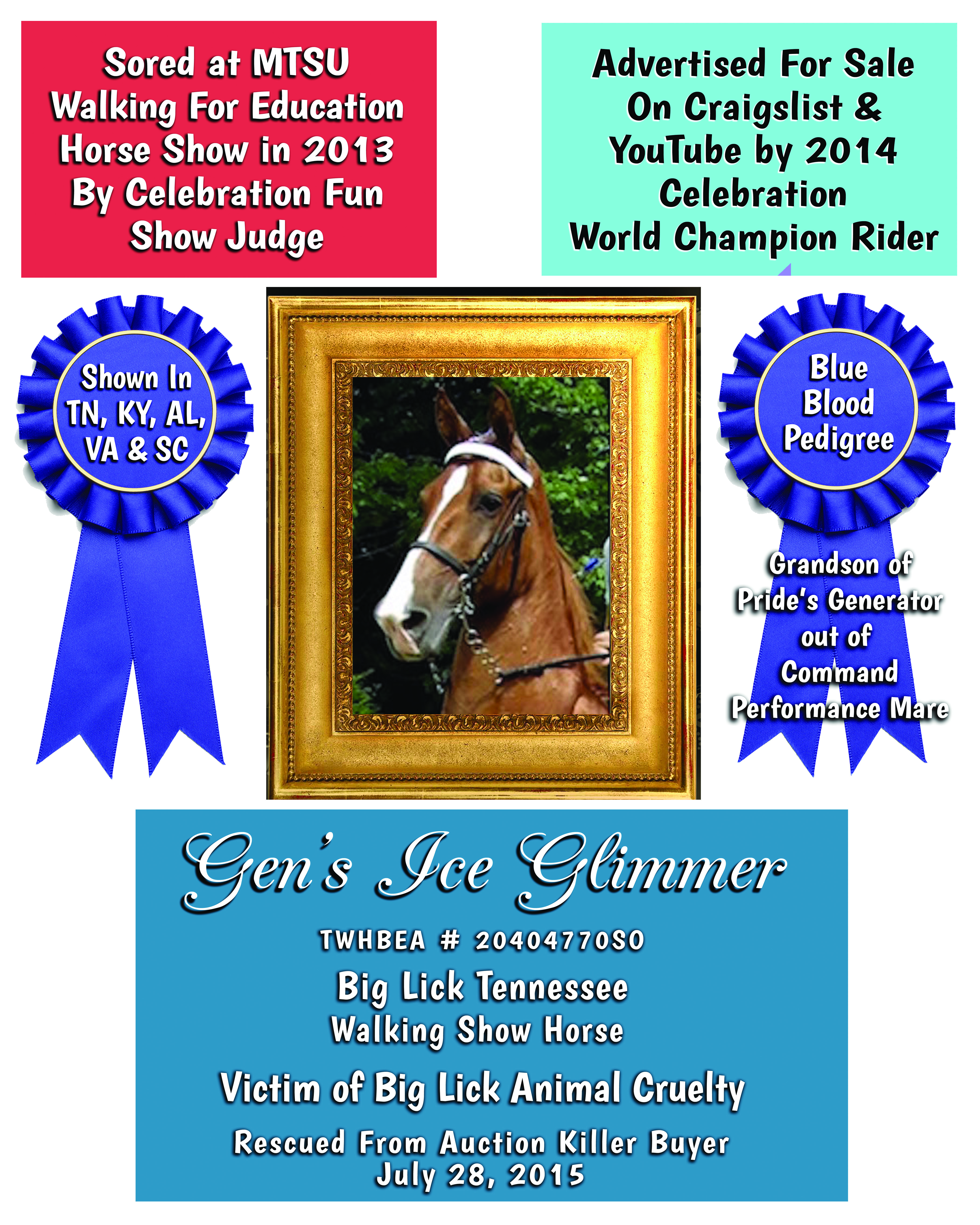 April | 2019 | Billy Go Boy Chat – Tennessee Walking Horse
