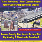 "PART I  – Columbia & Maury County Residents BOYCOTT  ""Big Lick"" Animal Cruelty Horse Show At Maury County Park, June 1-3, 2017"